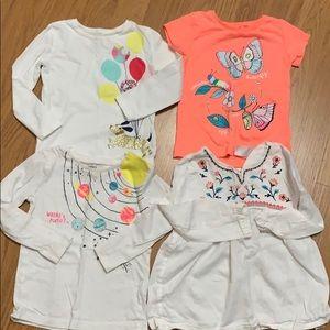 4 Carter's Toddler Girl Top Size 2T